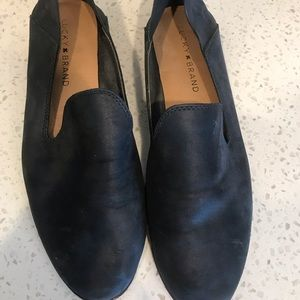 Lucky Leather slip ons
